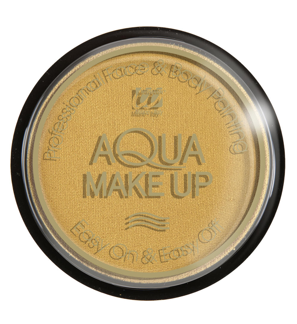 AQUA MAKE UP METALIC 15GR, GOUD