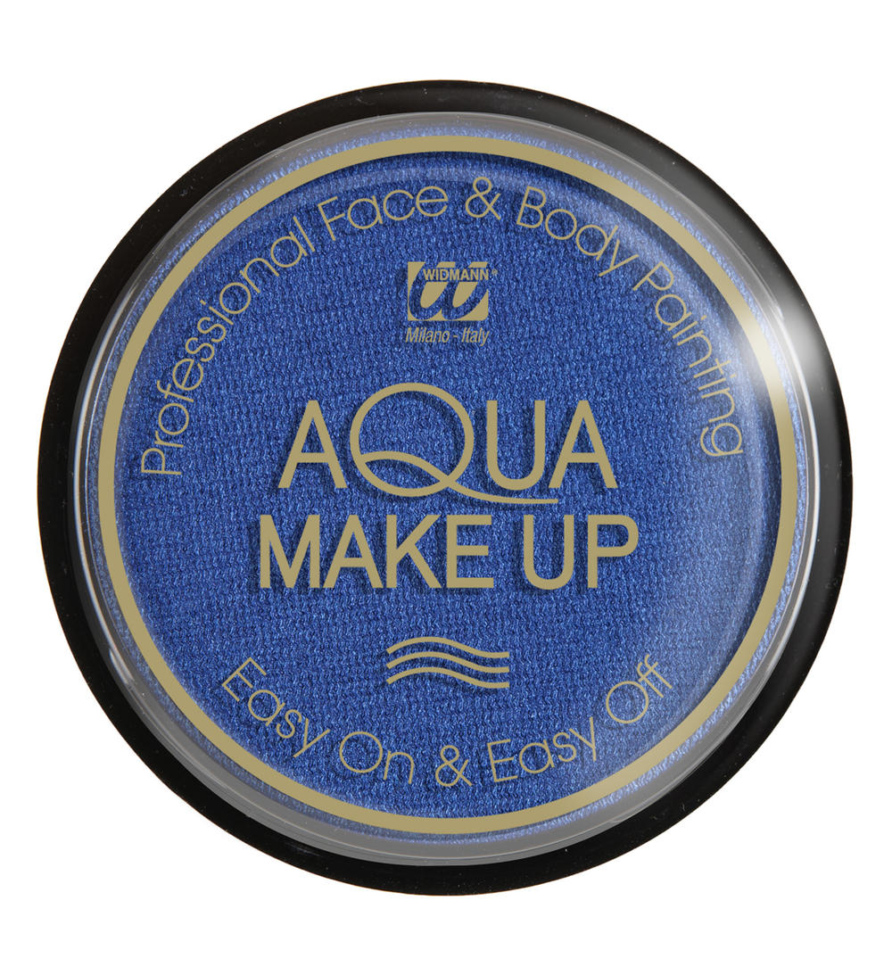 AQUA MAKE UP METALIC 15GR, BLAUW