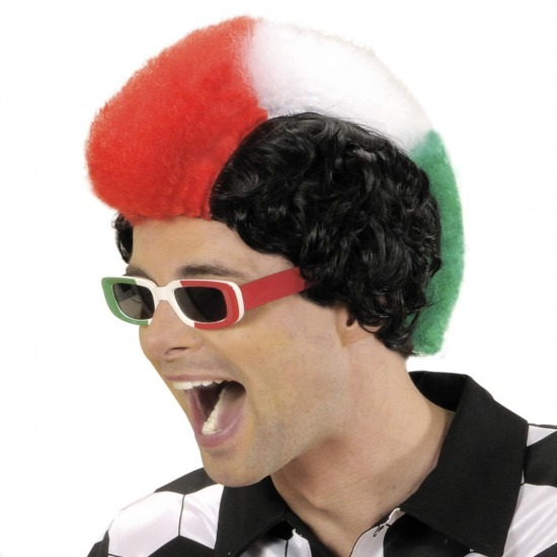 Pruik, Supporter Italië Man