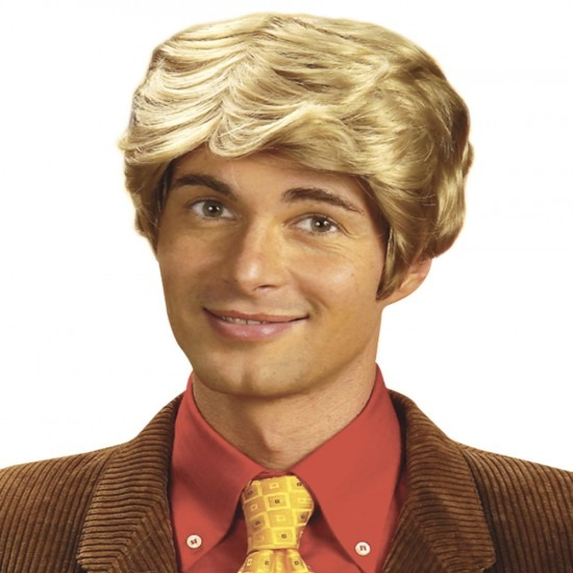 Pruik Kort Rick Blond