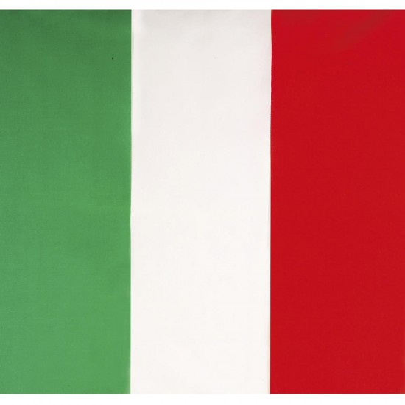 BANDANA, ITALIE, HOOFDDOEK, WIT, GROEN, ROOD
