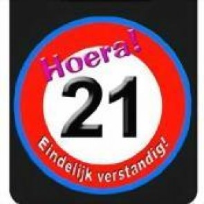 Hoera 21 button