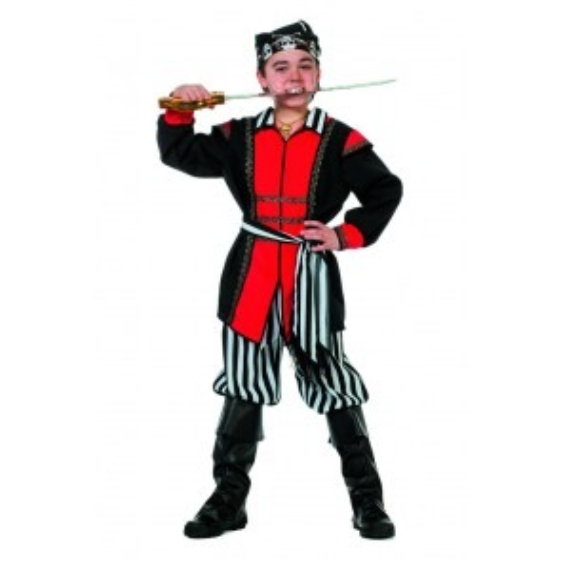 Piraat zwart/wit streep (jongen)