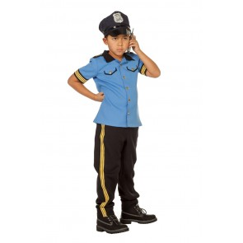 Politiejongen blue