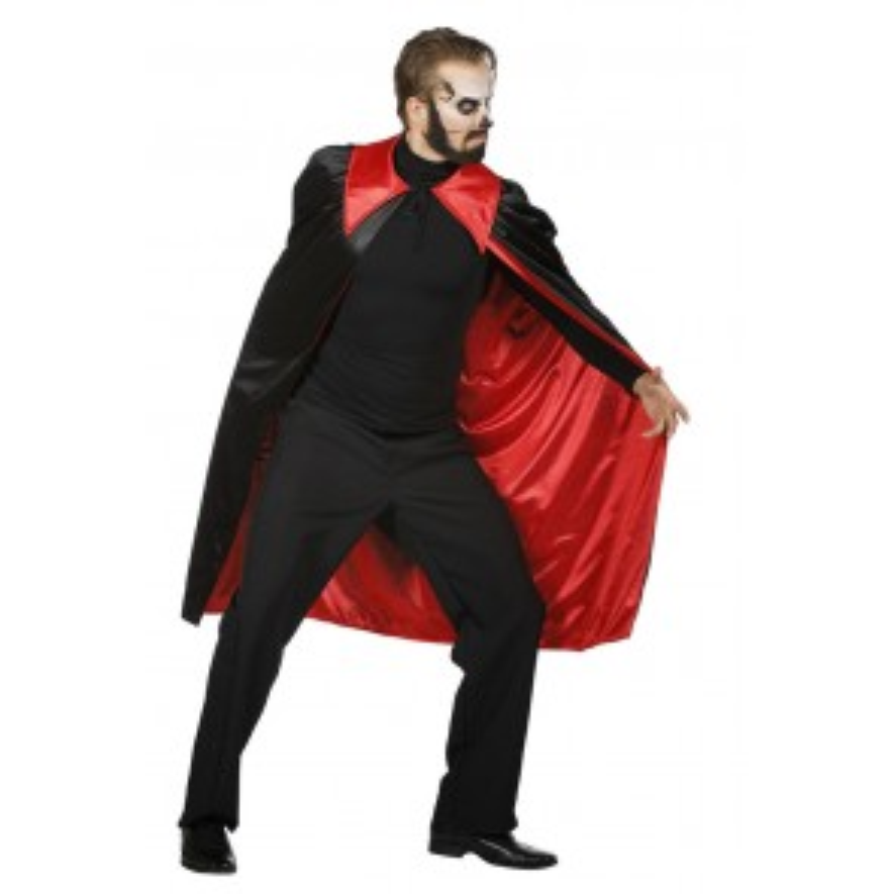 Dracula Cape Zwart Rood