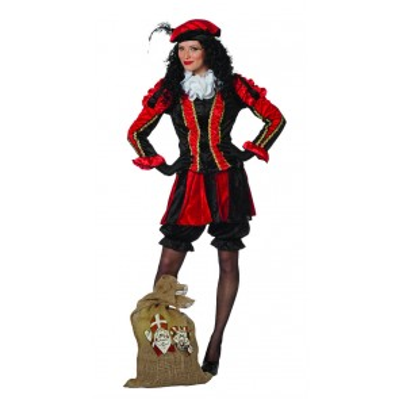 Piet dames rood/zwart