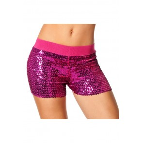 Hotpants Pailletten Roze