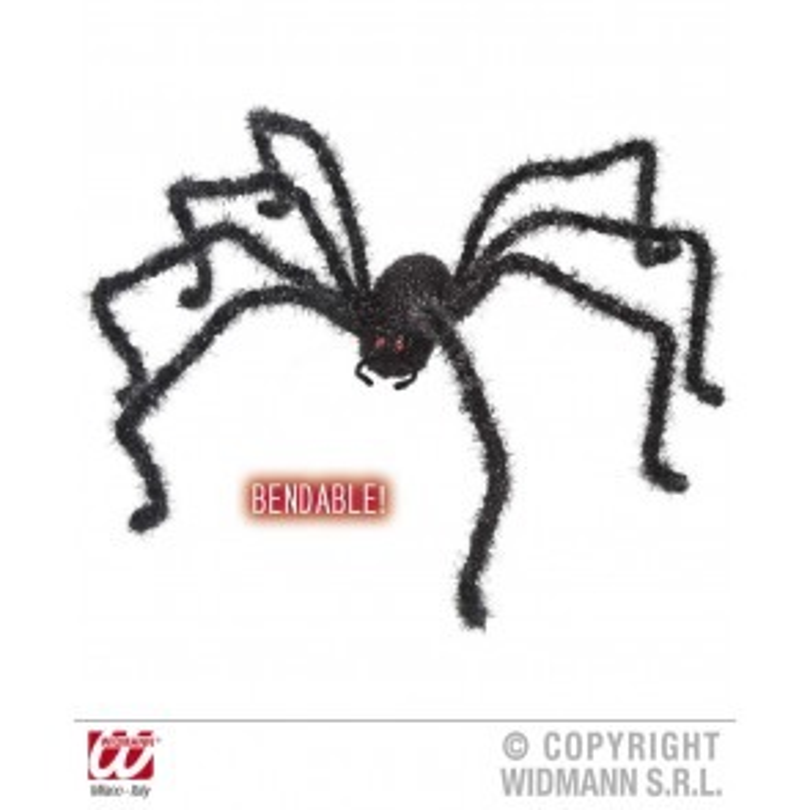 Zwarte buigbare spin, 124CM