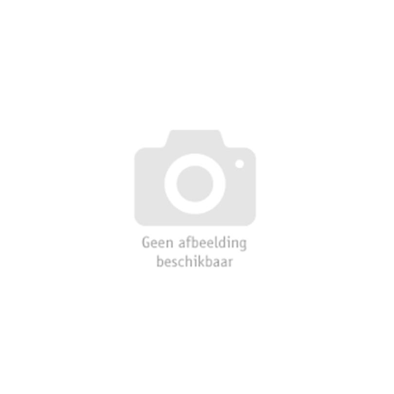 Leuke wit/zwart vertikaalgesteepte kniekousen. Leuk voor onder een kort jurkje tijdens themafeesten en verkleedpartijen.