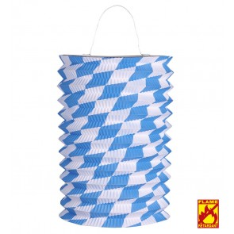 Blauw met witte lampion, brandveilig