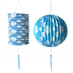 Wit/blauwe decoratieset