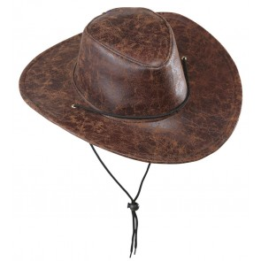 COWBOYHOED LEDERLOOK