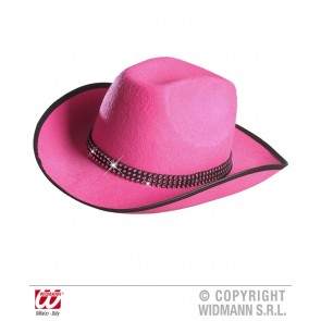 Cowboyhoed Roze met Strass Band