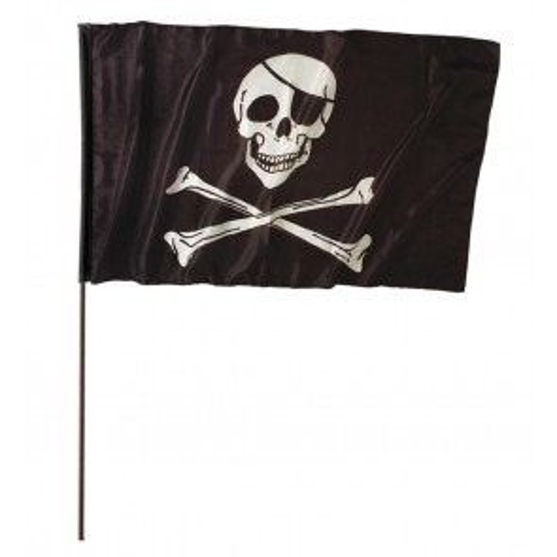 Pirantenvlag groot met stok