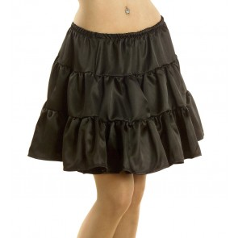 Petticoat zwart lang