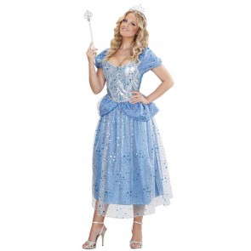 Prinses/Fee Blauw Kostuum Vrouw