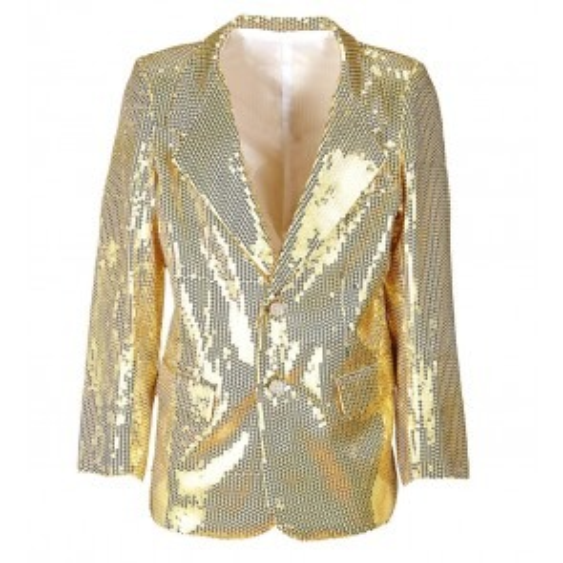 Pailletten jas goud