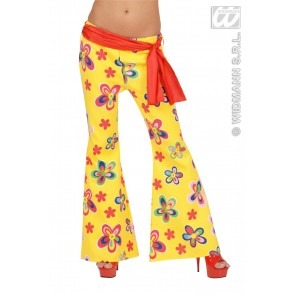 BROEK SEVENTIES BLOEMMOTIEF, DAMES