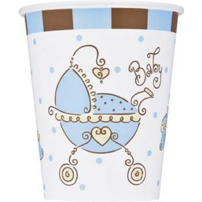 Babyshower blue bekertjes