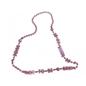 Roze bride to be ketting