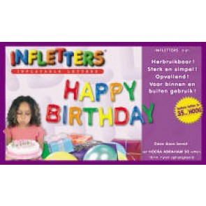 Opblaasletterset Happy Birthday