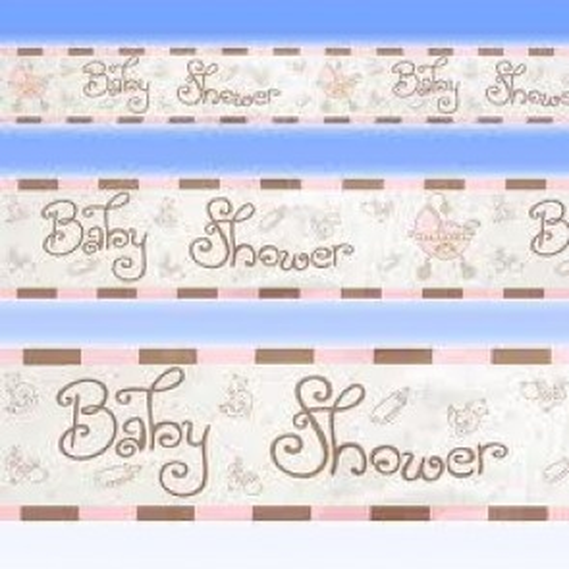 Babyshower banner meisje