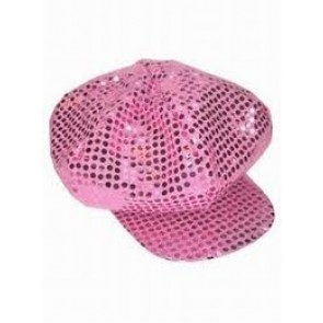 Roze Glitter Baseball Pet